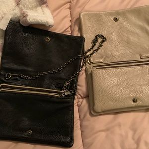 Street Level Bags - 2 (black and tan) crossbody/clutches